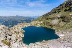 Vista aerea di Schottensee (lago) vicino a Pizol Fotografia Stock Libera da Diritti