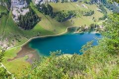 Vista aerea di Seealpsee (lago) Fotografia Stock