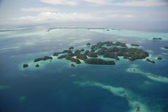 Vista aerea di settanta isole del Palau fotografia stock