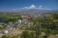 Vista aerea di Shkoder, Albania Fotografia Stock Libera da Diritti