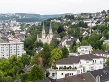 Vista aerea di Siegen, città in Germania Fotografie Stock Libere da Diritti