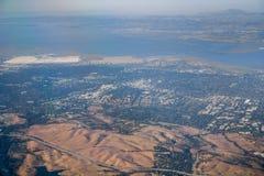 Vista aerea di Silicon Valley fotografia stock
