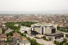 Vista aerea di Sofia, Bulgaria immagini stock