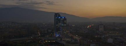 Vista aerea di Sofia, Bulgaria, il 21 ottobre 2018 immagini stock libere da diritti