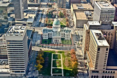 Vista aerea di St. Louis Fotografia Stock