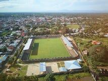 Vista aerea di stadio di calcio Immagini Stock