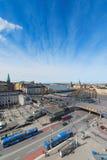 Vista aerea di Stoccolma e di Slussen da Katarina Elevator Immagini Stock