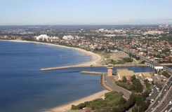Vista aerea di Sydney Australia Fotografie Stock