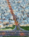 Vista aerea di Teheran, Iran Fotografia Stock Libera da Diritti