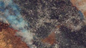 Vista aerea di terra bruciante nell'ambito della siccità stock footage