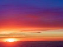 Vista aerea di tramonto fotografia stock