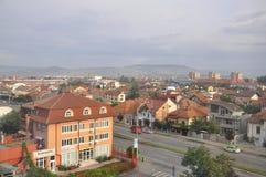 Vista aerea di Turnu Severin dalla contea di Mehedinti in Romania fotografie stock libere da diritti