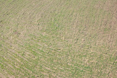 Vista aerea di un campo Fotografie Stock Libere da Diritti