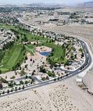 Vista aerea di un campo da golf a Las Vegas Immagine Stock