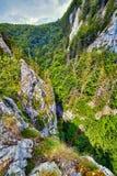 Vista aerea di un canyon Fotografia Stock