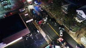 Vista aerea di un incidente stradale di autoveicolo archivi video