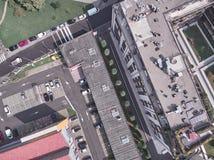 Vista aerea di un parco a Milano immagine stock