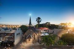 Vista aerea di un sobborgo tipico in Australia Immagine Stock Libera da Diritti