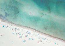 Vista aerea di una spiaggia fotografia stock
