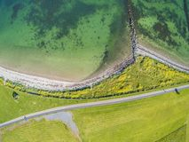 Vista aerea di una spiaggia e di un percorso di camminata in South Park fotografie stock