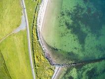 Vista aerea di una spiaggia e di un percorso di camminata in South Park fotografia stock