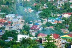 Vista aerea di una vicinanza residenziale Fotografie Stock