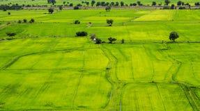 Vista aerea di una zona rurale verde Fotografia Stock Libera da Diritti