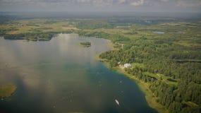 Vista aerea di Uzutrakis fotografia stock libera da diritti