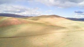 Vista aerea di vasto paesaggio in Mongolia Fotografia Stock Libera da Diritti