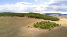 Vista aerea di vasto paesaggio in Mongolia Fotografie Stock