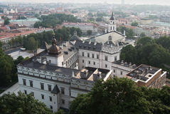 Vista aerea di vecchia città di Vilnius Immagine Stock Libera da Diritti