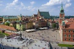 Vista aerea di vecchia città di Varsavia Immagini Stock Libere da Diritti