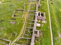 Vista aerea di vecchia fortezza di Histria in Dobrogea Costanza Romani immagini stock libere da diritti