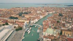 Vista aerea di Venezia video d archivio