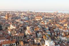 Vista aerea di Venezia all'alba, Italia Fotografia Stock