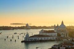 Vista aerea di Venezia all'alba, Italia Immagini Stock