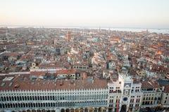 Vista aerea di Venezia all'alba, Italia Immagine Stock Libera da Diritti
