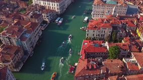 Vista aerea di Venezia e del suo canal grande video d archivio
