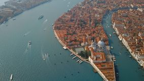 Vista aerea di Venezia Italia stock footage