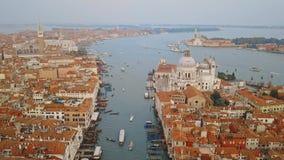Vista aerea di Venezia Italia video d archivio