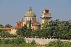 Vista aerea di Verona L'Italia Immagini Stock