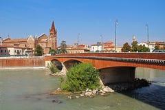 Vista aerea di Verona L'Italia Fotografia Stock