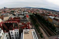 Vista aerea di Vienna Fotografia Stock Libera da Diritti