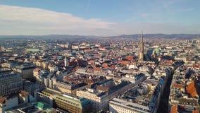 Vista aerea di Vienna archivi video
