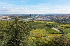 Vista aerea di Vienna in autunno fotografia stock libera da diritti