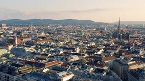 Vista aerea di Vienna video d archivio