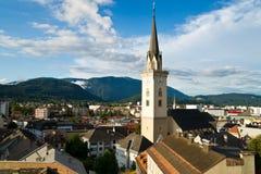 Vista aerea di Villach Fotografia Stock Libera da Diritti