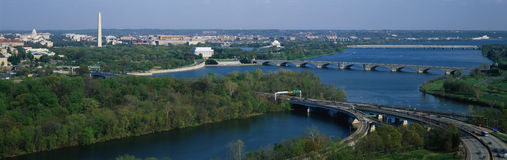 Vista aerea di Washington Fotografia Stock Libera da Diritti