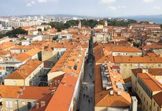 Vista aerea di Zadar immagini stock libere da diritti