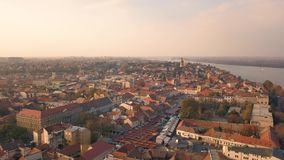 Vista aerea di Zemun archivi video